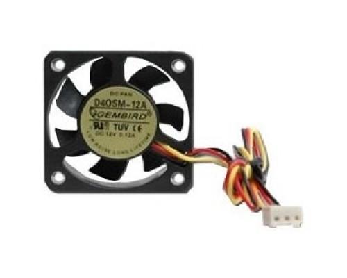 Вентилятор Gembird 40x40x10, 3pin, шнур 7см, D40SM-12A