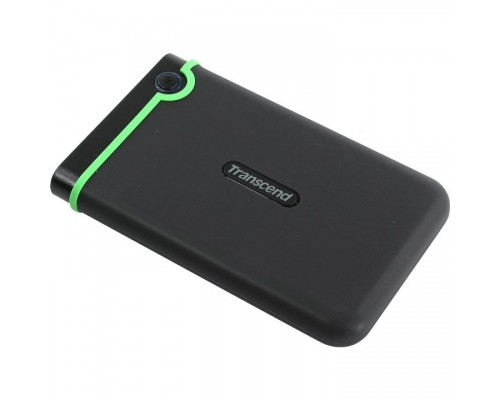 Transcend Portable HDD 2Tb StoreJet TS2TSJ25M3S USB 3.0, 2.5, black-green
