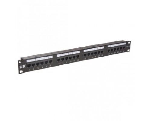 Патч-корды, Патч-панели ITK PP24-1UC6U-D05 патч-панель кат.6 UTP, порта