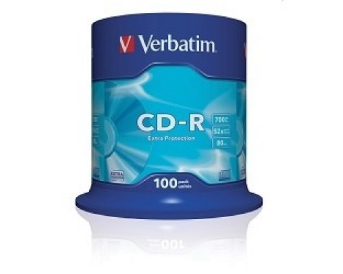 Verbatim и CD-R 100 шт. 48/52-x 700Mb, Cake Box ( 43411)