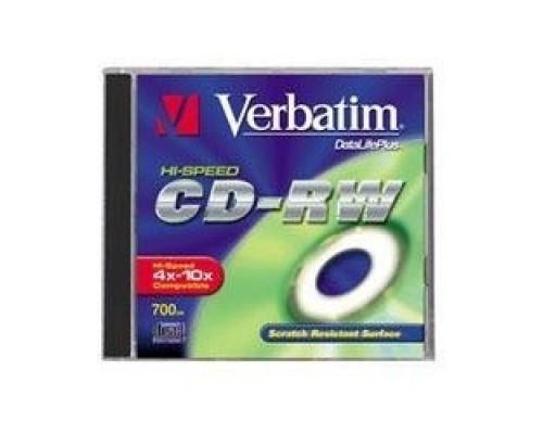 Verbatim CD-RW 700Mb 10x Cake Box DataLife+ (10шт) (43480)