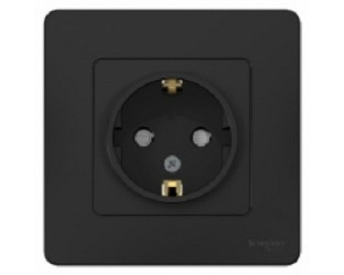 Schneider-electric BLNRS001116 BLANCA С/У РОЗЕТКА с заземлением со шторками, 16А, 250В, АНТРАЦИТ