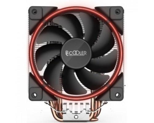 PCCooler GI-X5R Кулер GI-X5R S775/115X/AM2/AM3/AM4 (24 шт/кор, TDP 160W, вент-р 120мм с PWM, Red LED FAN, 5 тепловых трубок 6мм, 1000-1800RPM, 26.5dBa)