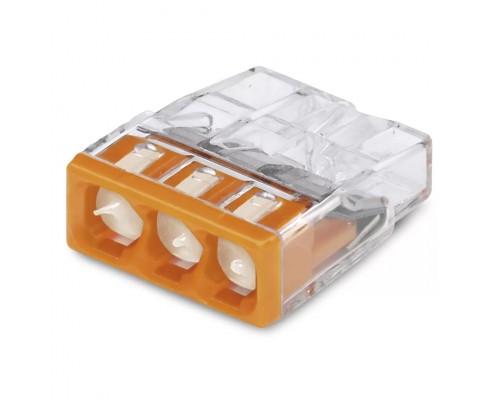 Wago 2273-243 Клемма 3-проводная (0,5-2,5 кв.мм) с пастой оранжевая