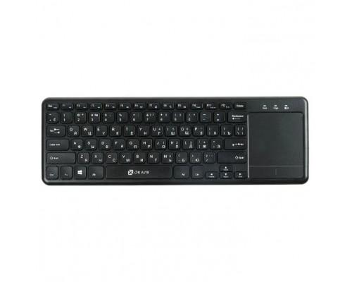 Клавиатура Oklick 830ST черный USB 1011937 Клавиатура беспроводная slim Multimedia Touch