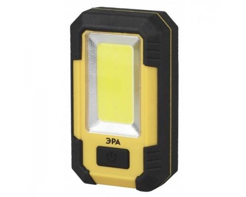ЭРА Б0027824 Рабочий фонарь RA-801 серия Практик 15Вт COB светодиод, 3 режима работы, прорезиненный корпус, Li аккумулятор 6Ач, USB-зарядка, крючок, магнит, подставка