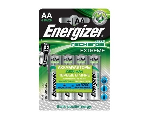 Energizer Extreme NH15/AA 2300 BP4 Pre-Ch (4 шт. в уп-ке)