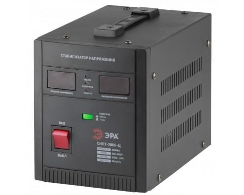 ЭРА Б0020160 СНПТ-2000-Ц Стабилизатор напряжения переносной, ц.д., 140-260В/220/В, 2000ВА
