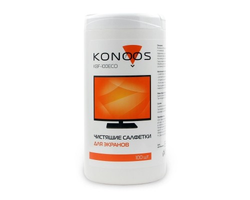Konoos KBF-100ECO Салфетки для ЖК-экранов в банке, 100 шт.