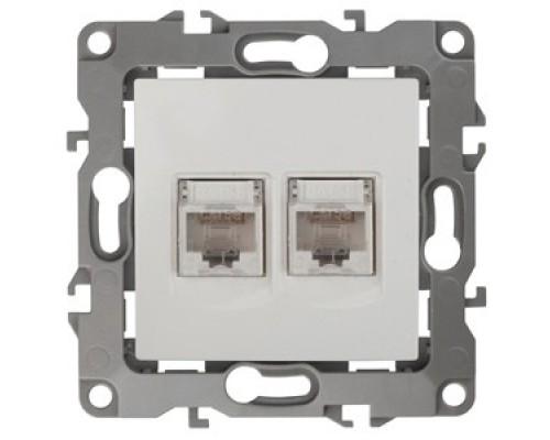 Эра Б0014729 12-3108-01 Розетка информационная двойная 2XRJ45, Эра12, белый