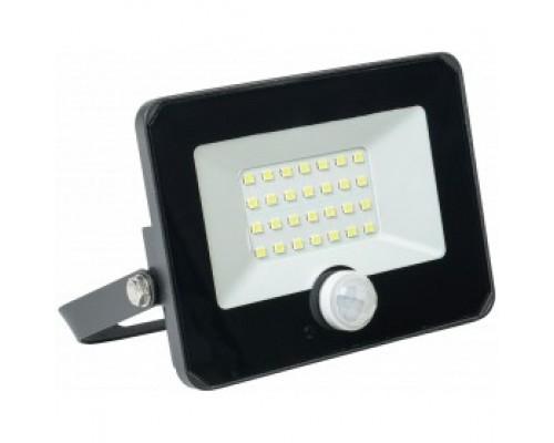 Iek LPDO602-20-65-K02 Прожектор СДО 06-20Д светодиодный черный с датчиком движения IP54 6500K