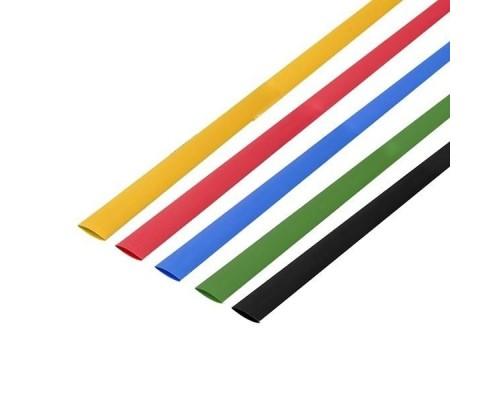 Rexant 29-0154 Набор термоусадочной трубки 4,0 / 2,0 мм 1м Пять цветов (уп. 50 шт)