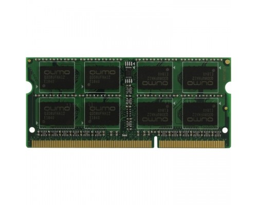 QUMO DDR3 SODIMM 8GB QUM3S-8G1600C11L PC3-12800, 1600MHz, 1.35V