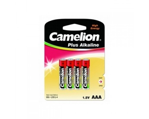 Camelion LR03 Plus Alkaline BL-4 (LR03-BP4, батарейка,1.5В) (4шт. в уп-ке)