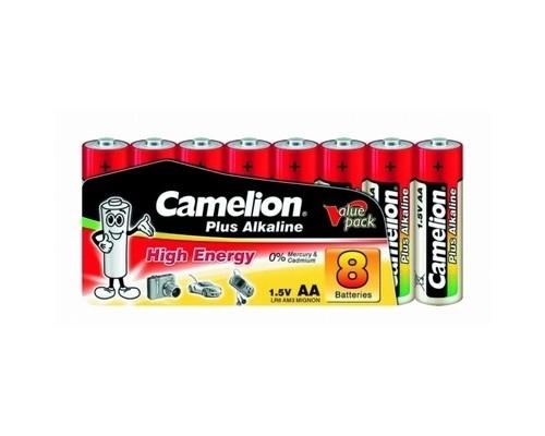 Camelion LR6 Plus Alkaline SP8 (LR6-SP8, батарейка,1.5В) (8 шт. в уп-ке)