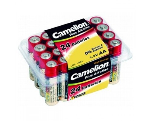 Camelion..LR 6 Plus Alkaline PB-24 (LR6-PB24, батарейка,1.5В) (24 шт. в уп-ке)