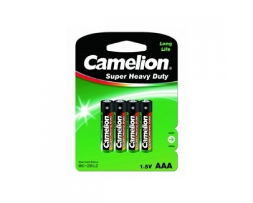 Camelion R 03 BL-4 (R03P-BP4G, батарейка,1.5В) (4 шт. в уп-ке)