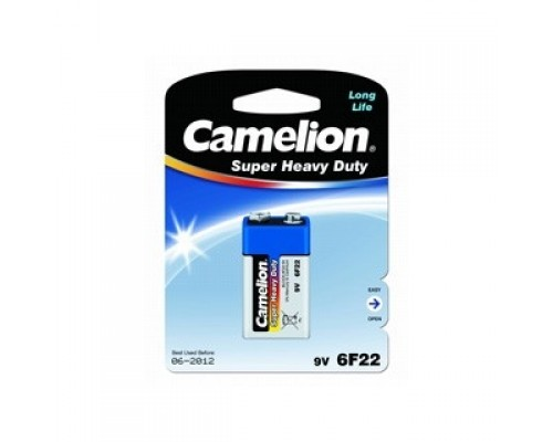 Camelion 6F22 Blue BL-1 (6F22-BP1B, батарейка,9В) (1 шт. в уп-ке)