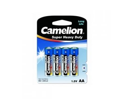 Camelion R 6 Blue BL-4 (R6P-BP4B, батарейка,1.5В) (4 шт. в уп-ке)