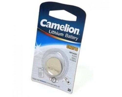 Camelion CR2016 BL-1 (CR2016-BP1, батарейка литиевая,3V) (1 шт. в уп-ке)