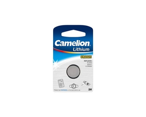 Camelion CR2025 BL-1 (CR2025-BP1, батарейка литиевая,3V) (1 шт. в уп-ке)