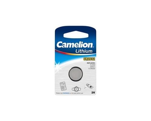 Camelion CR2032 BL-1 (CR2032-BP1, батарейка литиевая,3V) (1 шт. в уп-ке)