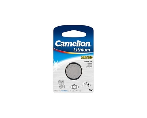 Camelion CR2450 BL-1 (CR2450-BP1, батарейка литиевая,3V) (1 шт. в уп-ке)