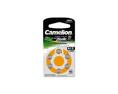 Camelion ZA13 BL-6 Mercury Free (A13-BP6(0%Hg), батарейка для слуховых аппаратов, 1.4 V,280mAh) (6 шт. в уп-ке)