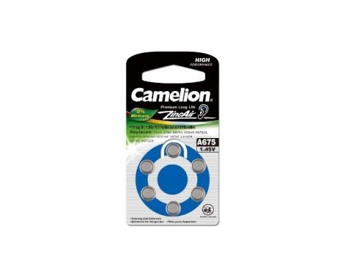 Camelion ZA675 BL-6 Mercury Free (A675-BP6(0%Hg), батарейка для слуховых аппаратов, 1.4 V,620mAh) (6 шт. в уп-ке)