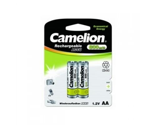 Camelion AA- 800mAh Ni-Cd BL-2 (NC-AA800BP2, аккумулятор,1.2В) (2 шт. в уп-ке)