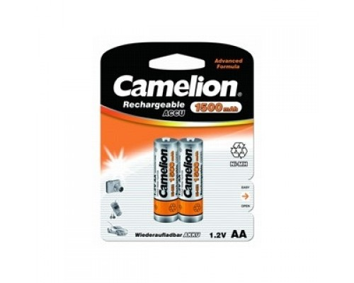 Camelion AA-1500mAh Ni-Mh BL-2 (NH-AA1500BP2, аккумулятор,1.2В) (2 шт. в уп-ке)