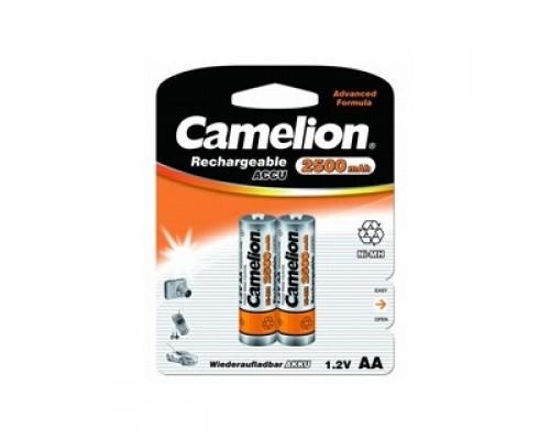 Camelion AA-2500mAh Ni-Mh BL-2 (NH-AA2500BP2, аккумулятор,1.2В) (2 шт. в уп-ке)