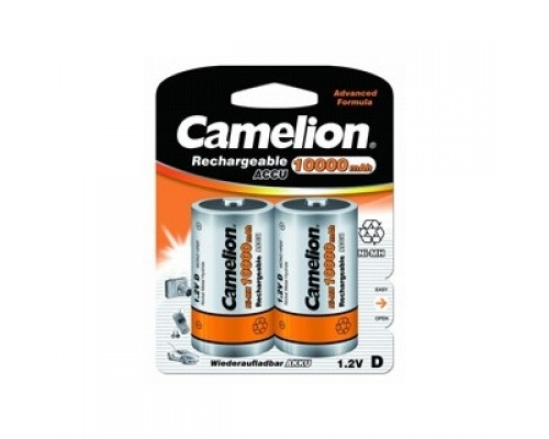 Camelion D-10000mAh Ni-Mh BL-2 (NH-D10000BP2, аккумулятор,1.2В) (2 шт. в уп-ке)