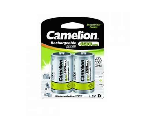 Camelion D- 4500mAh Ni-Cd BL-2 (NC-D4500BP2, аккумулятор,1.2В) (2 шт. в уп-ке)