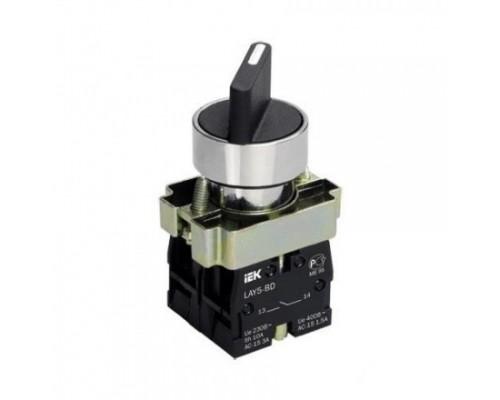 IEK BSW60-BD-3-K02 Переключатель LAY5-BD33 3 положения I-0-II стандарт ручка
