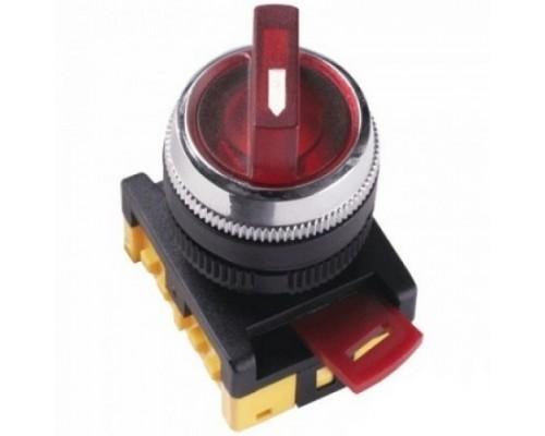 IEK BSW10-ANCLR-3-K04 Переключатель ANCLR-22-3 на 3 фикс.полож.красный неон/240В I-O 1з+1р