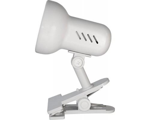 Camelion H-035 С01 белый (Светильник прищепка, метал.,220В, 60Вт)