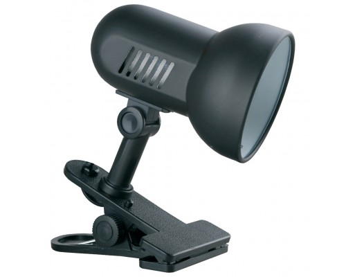 Camelion H-035 С02 черный (Светильник прищепка, метал., 220В, 60Вт)