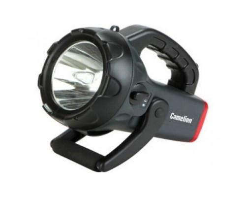 Camelion 2931R2 (фонарь аккум 220В/12В, карбон, 10W CREE LED, 4В 4А-ч, пластик, коробка)
