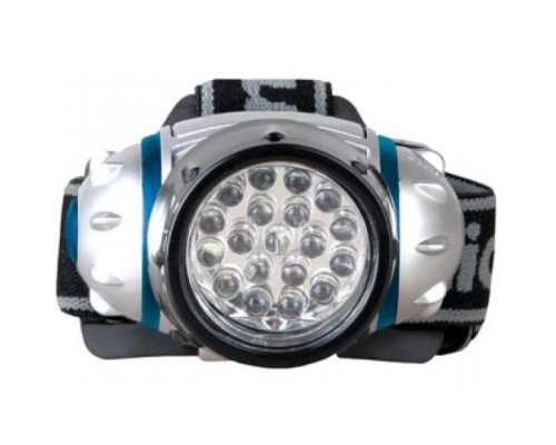 Camelion LED5313-19F4 (фонарь налобн, металлик, 19LED, 4 реж, 3XR03 в компл, пласт, блист)