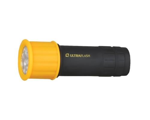 Ultraflash LED15001-B (фонарь 3XR03 светофор, желтый с черным, 9 LED, пластик, блистер)