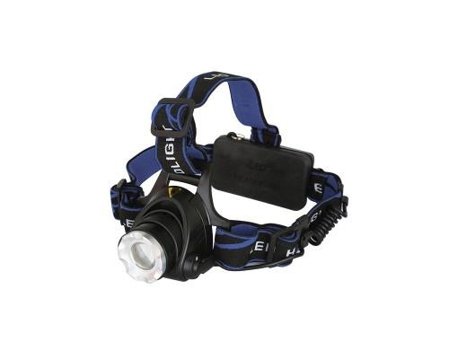 Ultraflash E150 (фонарь налобн аккум 220В, черный, CREE 3 Ватт, фокус, 2 ак 3 реж, пласт, бокс)