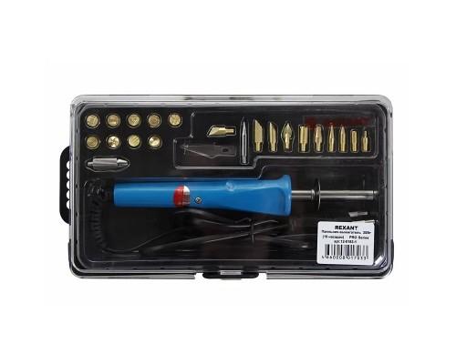 REXANT (12-0183-1) Набор паяльник-выжигатель (19 насадок) ПРОФИ 220V/30 Вт