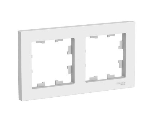 Schneider-electric ATN000102 ATLASDESIGN 2-постовая РАМКА, универсальная, БЕЛЫЙ