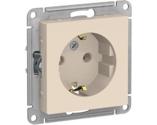 Schneider-electric ATN000243 ATLASDESIGN РОЗЕТКА с заземлением, 16А, механизм, БЕЖЕВЫЙ