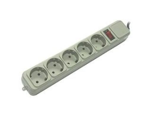 PowerCube Фильтр B, 5.0м, 5 евророзеток (SPG-B-15), серый