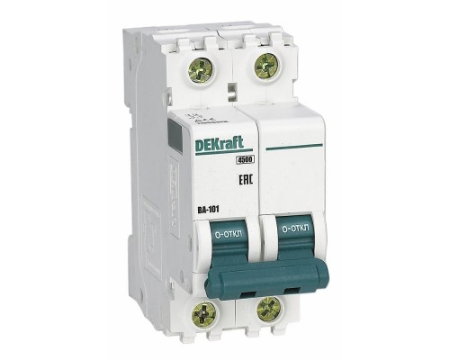 Schneider-electric 11071DEK Авт. выкл. 2Р 50А х-ка C ВА-101 4,5кА DEKraft