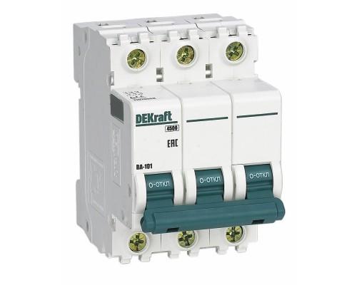 Schneider-electric 11078DEK Авт. выкл. 3Р 16А х-ка C ВА-101 4,5кА DEKraft
