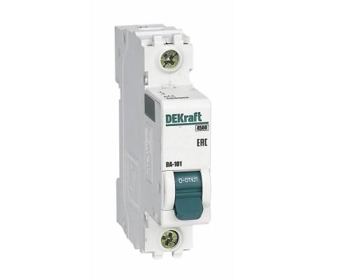 Schneider-electric 11100DEK Авт. выкл. 1Р 6А х-ка D ВА-101 4,5кА DEKraft