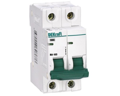 Schneider-electric 12079DEK Авт. выкл. 2Р 50А х-ка C ВА-103 6кА DEKraft